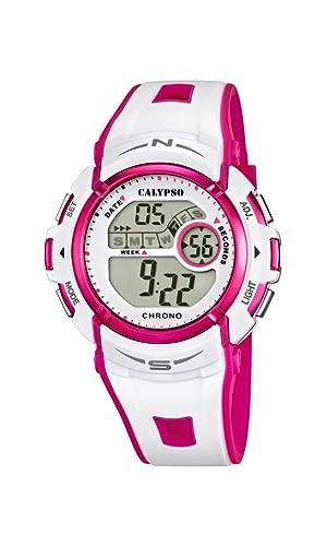 Calypso watches K5610/3 - Reloj digital de cuarzo para niña, correa de plástico