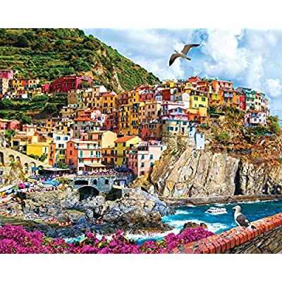 White Mountain Cinque Terre, Italy - 1000 Piece Jigsaw Puzzle: Toys & Games