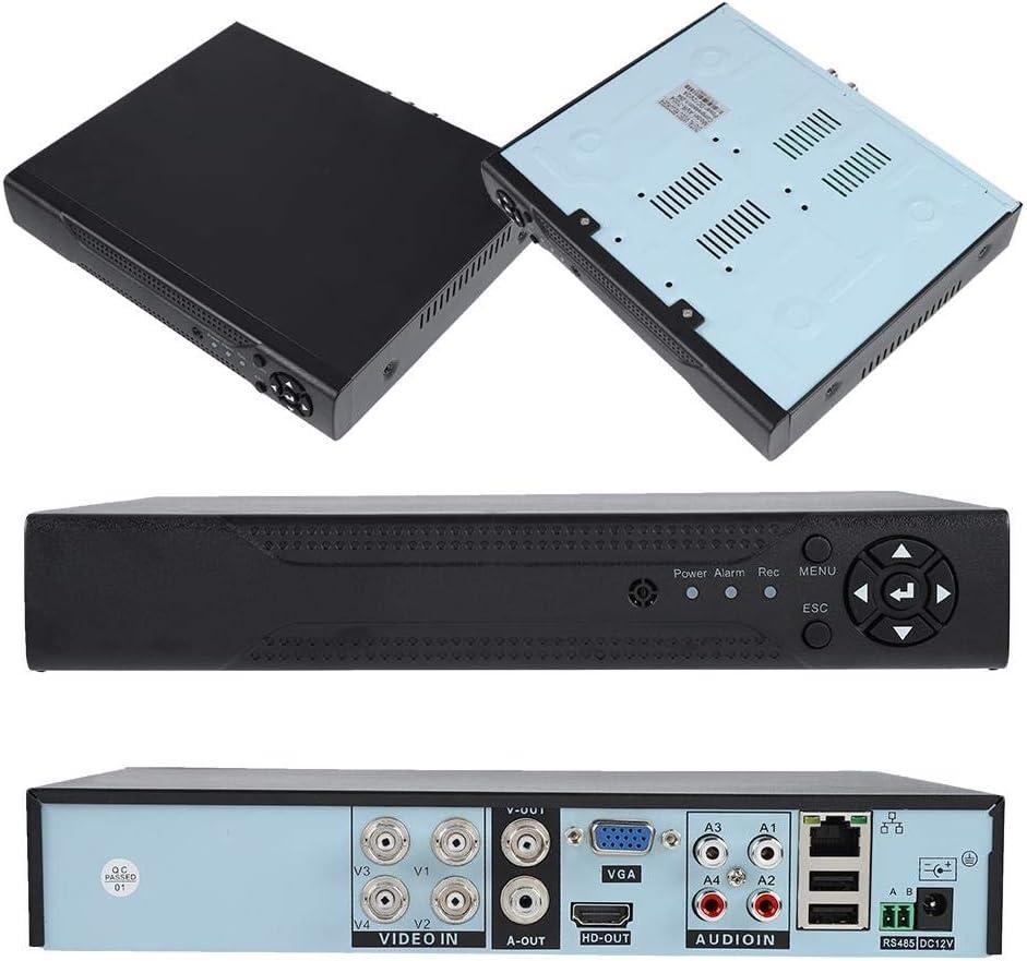 EU Qinlorgo 4CH 1080N H/íbrido 5 en 1 NVR AHD TVI 4CH DVR CCTV 4 Canales Escaneo r/ápido de c/ódigo QR Independiente con Vista remota f/ácil Sistema de c/ámara de vigilancia de Seguridad para el hogar