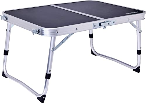 MAGARROW Lightweight Aluminum Portable Black Folding Camping Outdoor Table