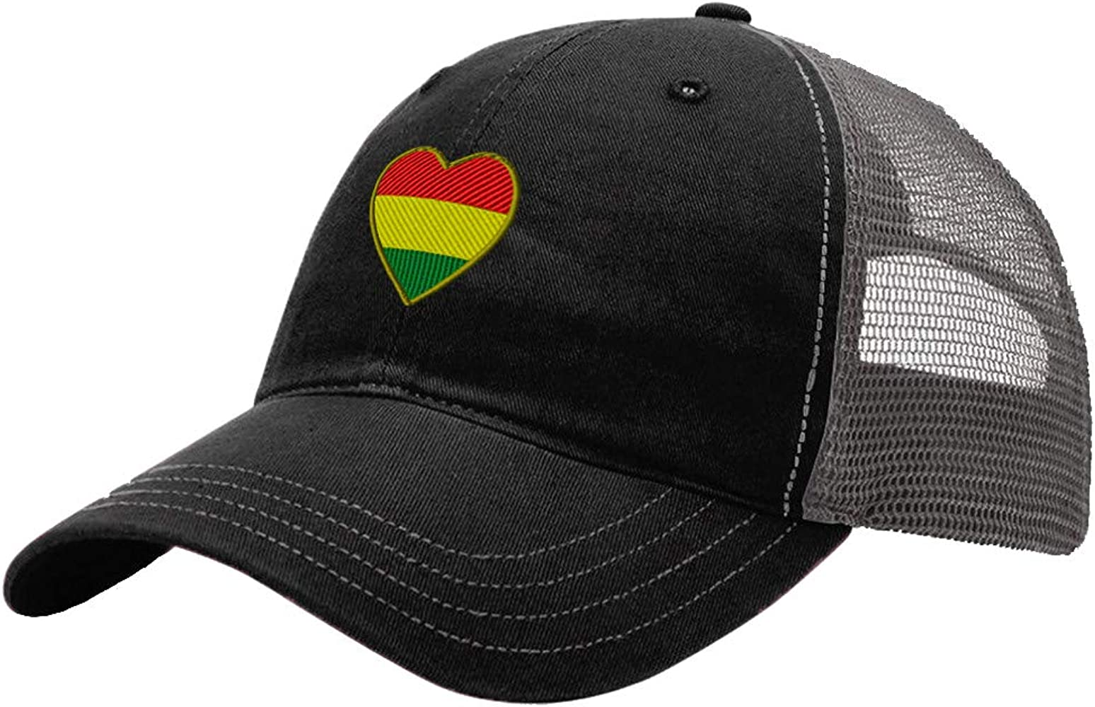 Custom Trucker Hat Richardson Heart Bolivia Flag Embroidery Country Name Cotton