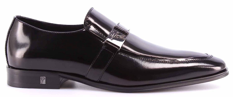 Versace Collection Men's Black Leather Oxford Dress Shoes