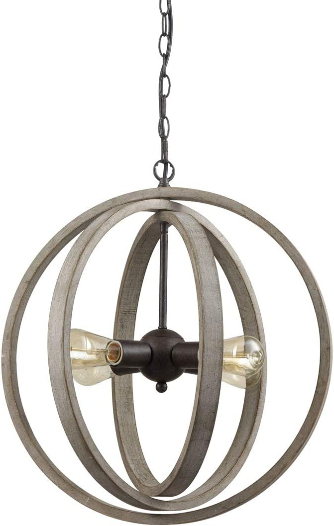 AXILAND Rustic Pendant Lights Sphere Chandelier Globe Ceiling Light Fixture
