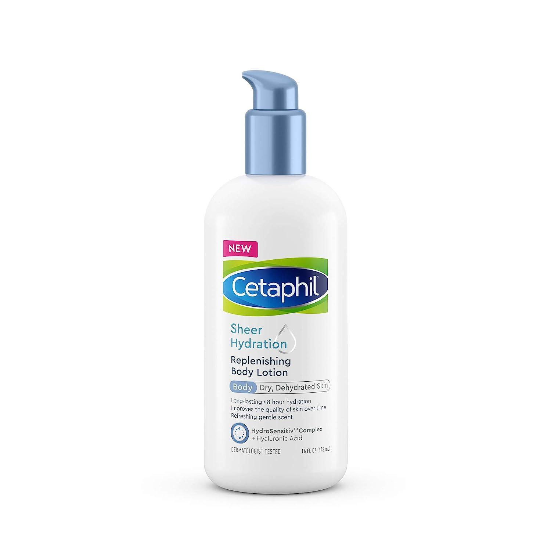 Cetaphil Sheer Hydration Replenishing Body Lotion for Dry Skin, 48 Hour Sensitive Skin Body Moisturizer, With Hyaluronic Acid, Vitamin E & Vitamin B5, Dermatologist Recommended, 16 Fl Oz : Beauty
