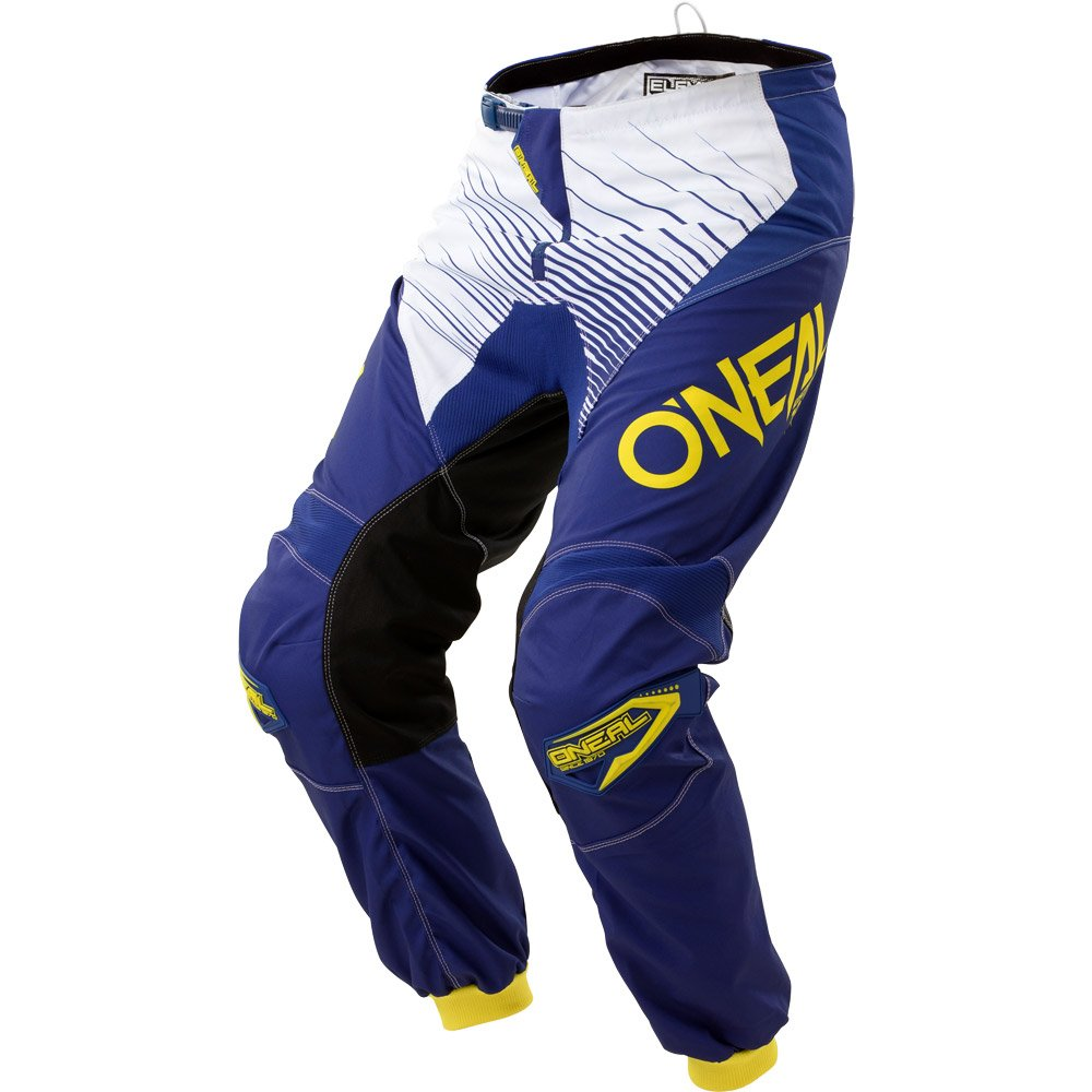 O'Neal Mens Element Racewear Pant (Blue/Yellow, Size 38)