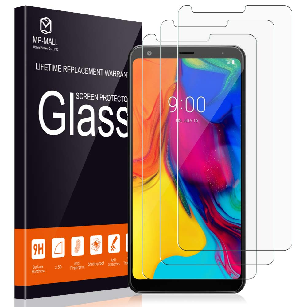 MP-MALL [3-Pack] Screen Protector for LG Stylo 5, Tempered Glass 9H Hardness [Case Friendly] Easy Installation, Lifetime Replacement Warranty