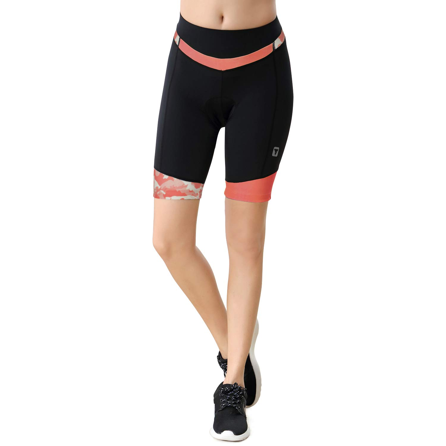 Womens Cycling Shorts with 3D Padded Bike Shorts with Reflective Elements Shorts271