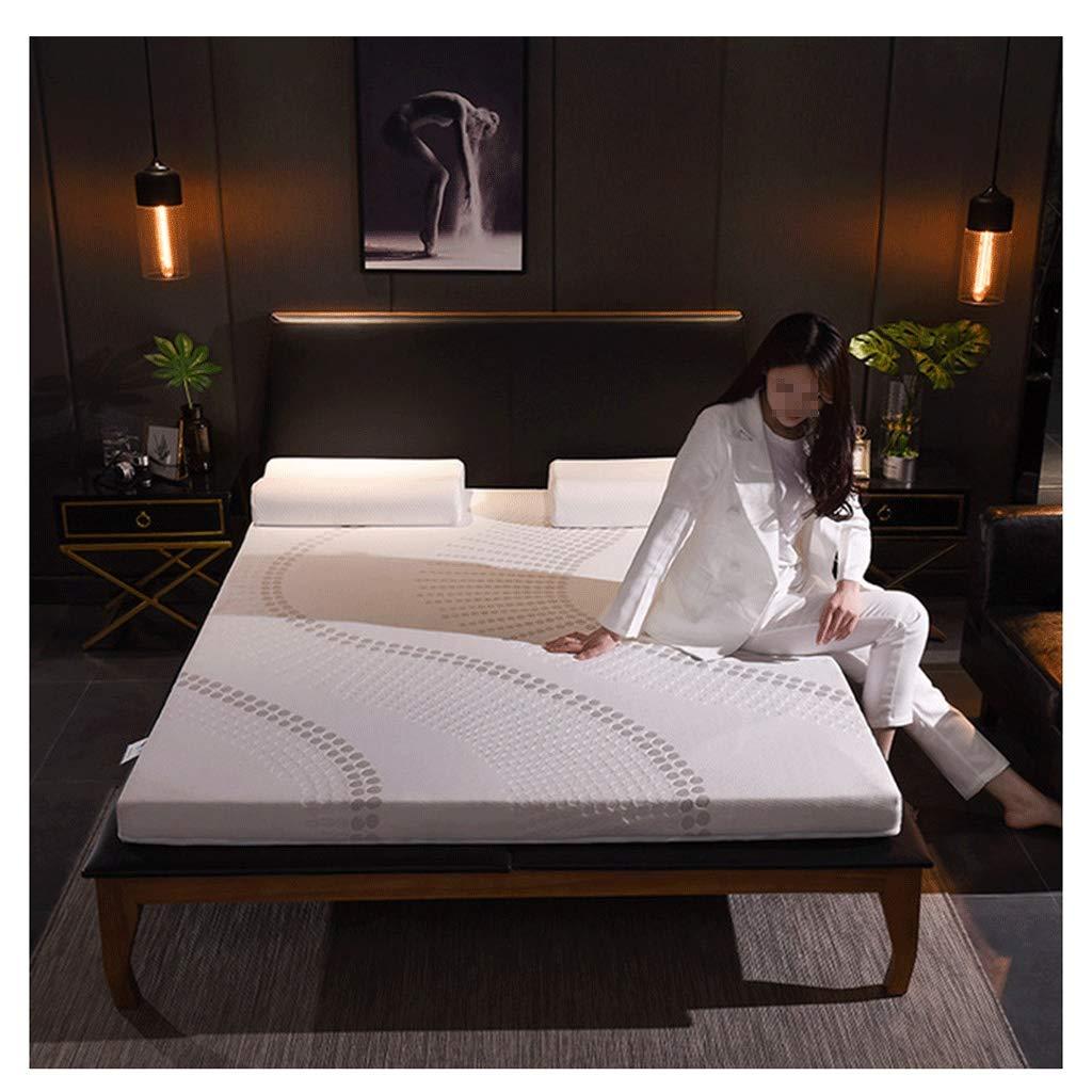 HEJINXL Sleepling Matratzen Gestrickte Baumwollmatratze Seitigem Reißverschluss Atmungsaktive Nicht-Slip Rollmatratze Single Double Mat (Size : 120x90cm)