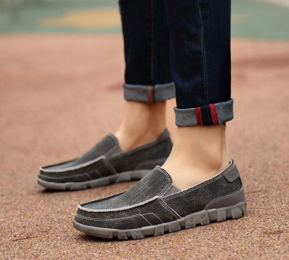 Hy Mens Casual Shoes Loafers /& Slip-Ons Lazy Shoes Walking Shoes,Black,43 Spring Flat Loafers Canvas Shoes