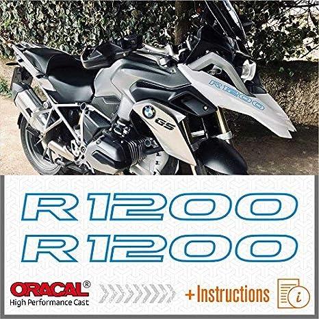 2pcs R1200 BMW Motorrad 2013 - 2017 LC R 1200 GS ADESIVI PEGATINA STICKERS AUTOCOLLANT AUFKLEBER VINIL Motorcycle r1200gs (Blue)