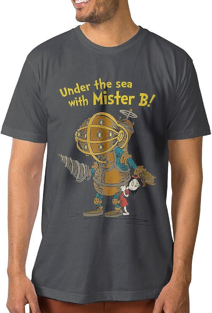 Nubia Men's Cartoon Role Geek T Shirt DeepHeather