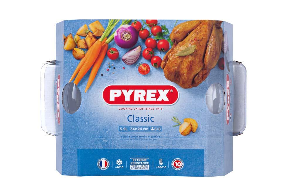 5.5 litri Pirofila in vetro con coperchio Pyrex