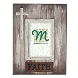 Midwest CBK 11.5″ x 9″ Distressed Wood Cross Photo Frame – Holds 4″ x 6″ Photo (Faith) Review