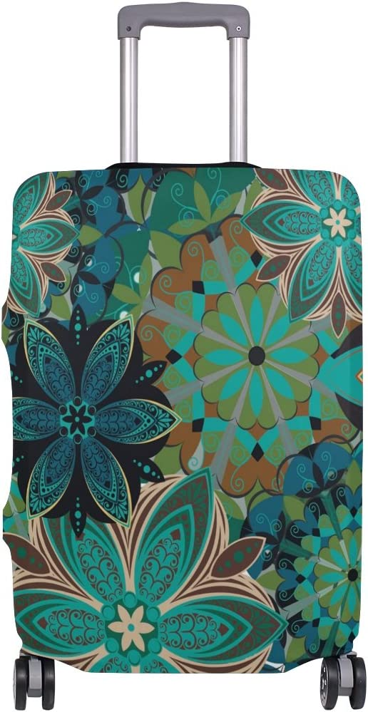 OREZI Luggage Protector Flower Pattern Travel Luggage Elastic Cover Suitcase Washable and Durable Anti-Scratch Stretchy Case Cover Fits 18-32 Inches