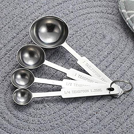 FidgetGear Juego de 8 cucharas medidoras de Acero Inoxidable ...