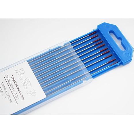 Amazon.com: 10 varillas de electrodo de tungsteno con 2 % de ...