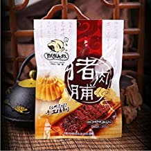 CNsnack Chinese special Snack food Piao Ling Da Shu Classic Dried Pork Slices Pork Jerky Jingjiang specialty Spicy flavor 200g*3 packs(飘零大叔猪肉脯,香辣味)