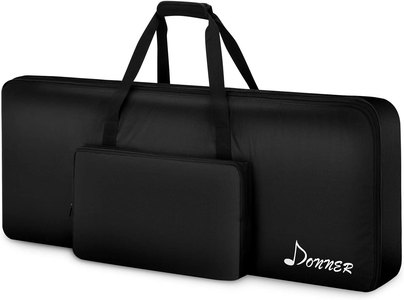61-Key 54-Key Keyboard Electric Piano Organ Gig Bag Soft Case Dual Zipper 420D Cloth Padded Case with Handle Strap Adjustable Shoulder Backpack Travel Tote with Extra Pockets Gift for Music Students