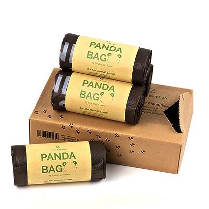 Planet Bamboo: Bolsas compostables de biorresiduos (7 a 10 L con mango | 100