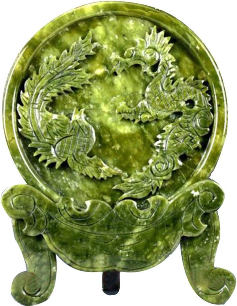 Sculpture Ornament Chinese 100% Natural Jade Hand Carved Animal Pattern Statue for Home Decoration