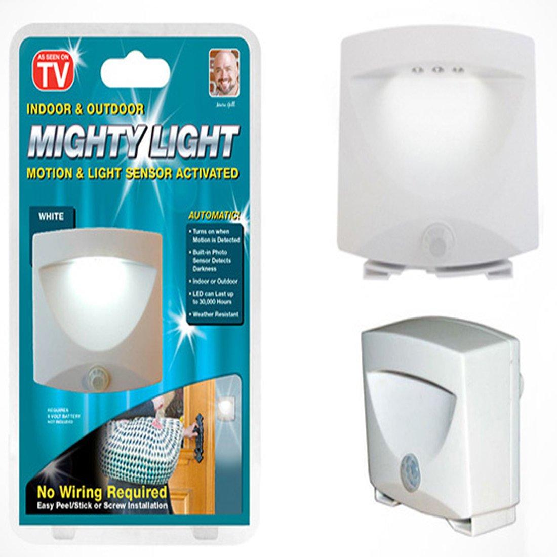 Buy Mighty Light Indoor Outdoor Motion Sensor Activated Emergency ...