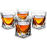 KANARS Whisky Glasses - Set of 4 - Premium Lead-Free Crystal Glass Cups - Large 300ml Tasting Tumblers for Drinking Scotch, Bourbon, Whiskey, Brandy - Luxury Gift Box for Men or Women