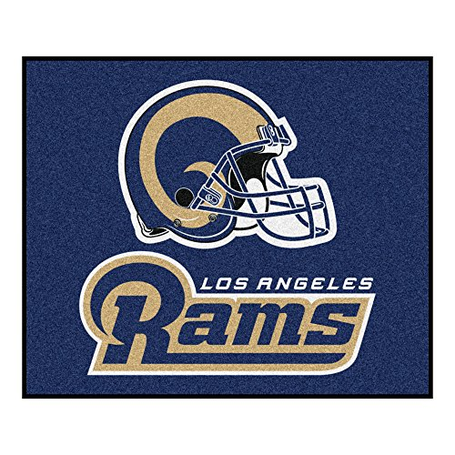 FANMATS NFL Los Angeles Rams Nylon Face Tailgater Rug