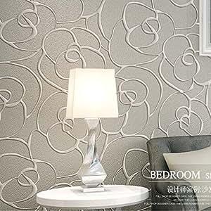 Qihang moderno minimalista de rosa en 3d dise o de flores for Papeles pintados modernos pared