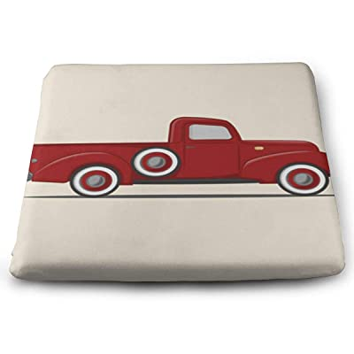 SZjinghao Chair Square Cushion,Seat Cushion for Home Office Dinning Chair Solid Color Indoor Outdoor,Chair Pads Old Retro Pickup Truck Vintage Auto Automobile Car Cargo Cartoon: Home & Kitchen