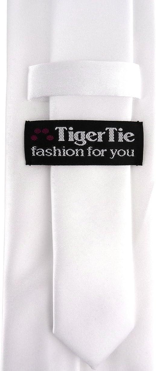 Cravatta di raso in tinta unita TigerTie Designer