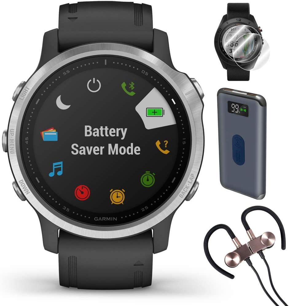Garmin Fenix 6S Multisport GPS Smartwatch(010-02159-01) + Wireless Sport Earbuds & More