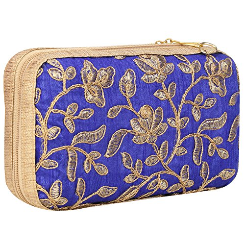 Used, Zipper Closure Hand Crafted Designer Box Clutch with for sale  Delivered anywhere in USA