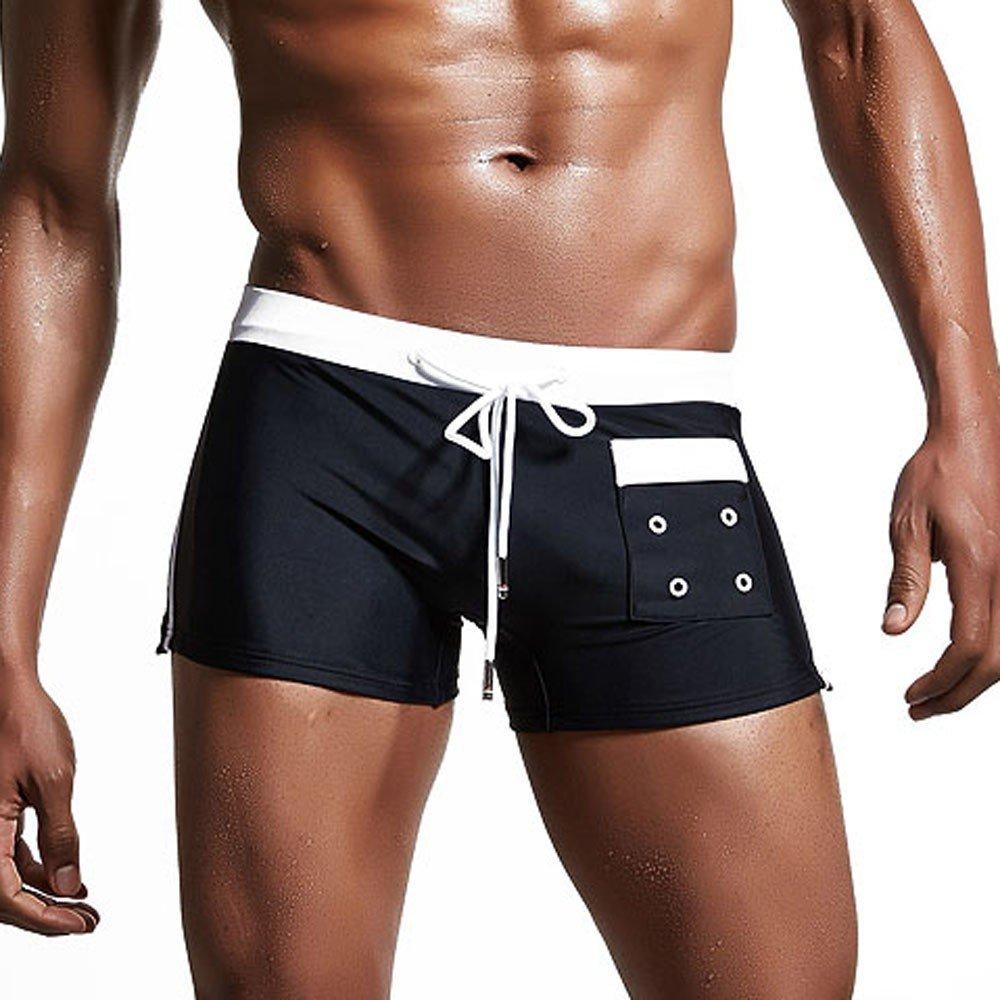 Inverlee-Mens Breathable Swim Trunks Pants Swimwear Shorts Slim Wear Bikini Swimsuit