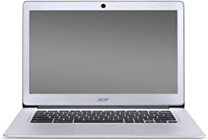 Acer Chromebook 14, Aluminum, 14-inch Full HD, Intel Celeron Quad-Core N3160, 4GB LPDDR3, 32GB, Chrome, CB3-431-C5FM, (Silver) - (Renewed)