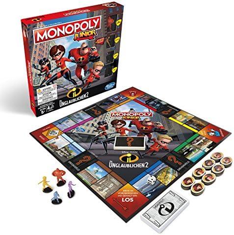 Hasbro Gaming E1781100 2 Monopoly Junior-Die Increíble, Juego de niños: Amazon.es: Juguetes y juegos