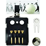 6 Oz. Stainless Steel Golf Flask with Golf Case