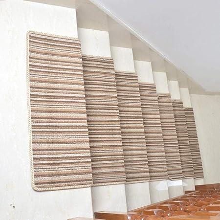 xtswllt alfombras para escaleras Alfombra Madera Alfombra de Escalera de Polipropileno, b, 80 * 24 cm * 2 Piezas: Amazon.es: Hogar