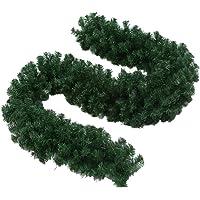 Guirlanda artificial de PVC de 270 x 28 cm da BESTOYARD com folhas verdes, vinhas artificiais para decorações de Natal…