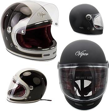 Gringo ECE Approved Viper F656 Vintage Fibreglass Motorcycle//Chopper//Retro Cruiser//Bobber Helmet Cream