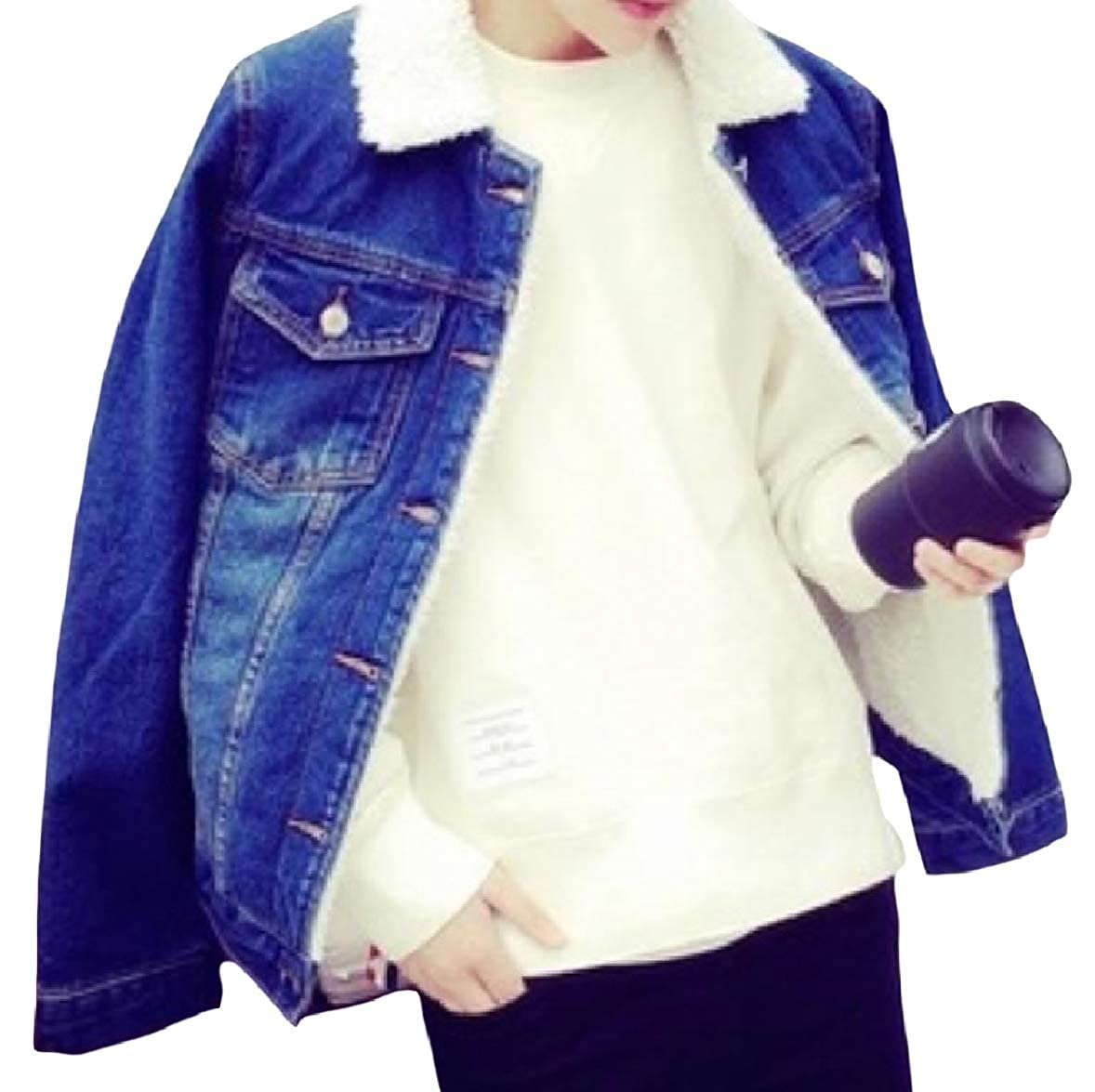 Zimaes-Men Pocket Plus Size Velvet Button Lounge Lapel Coat Jacket