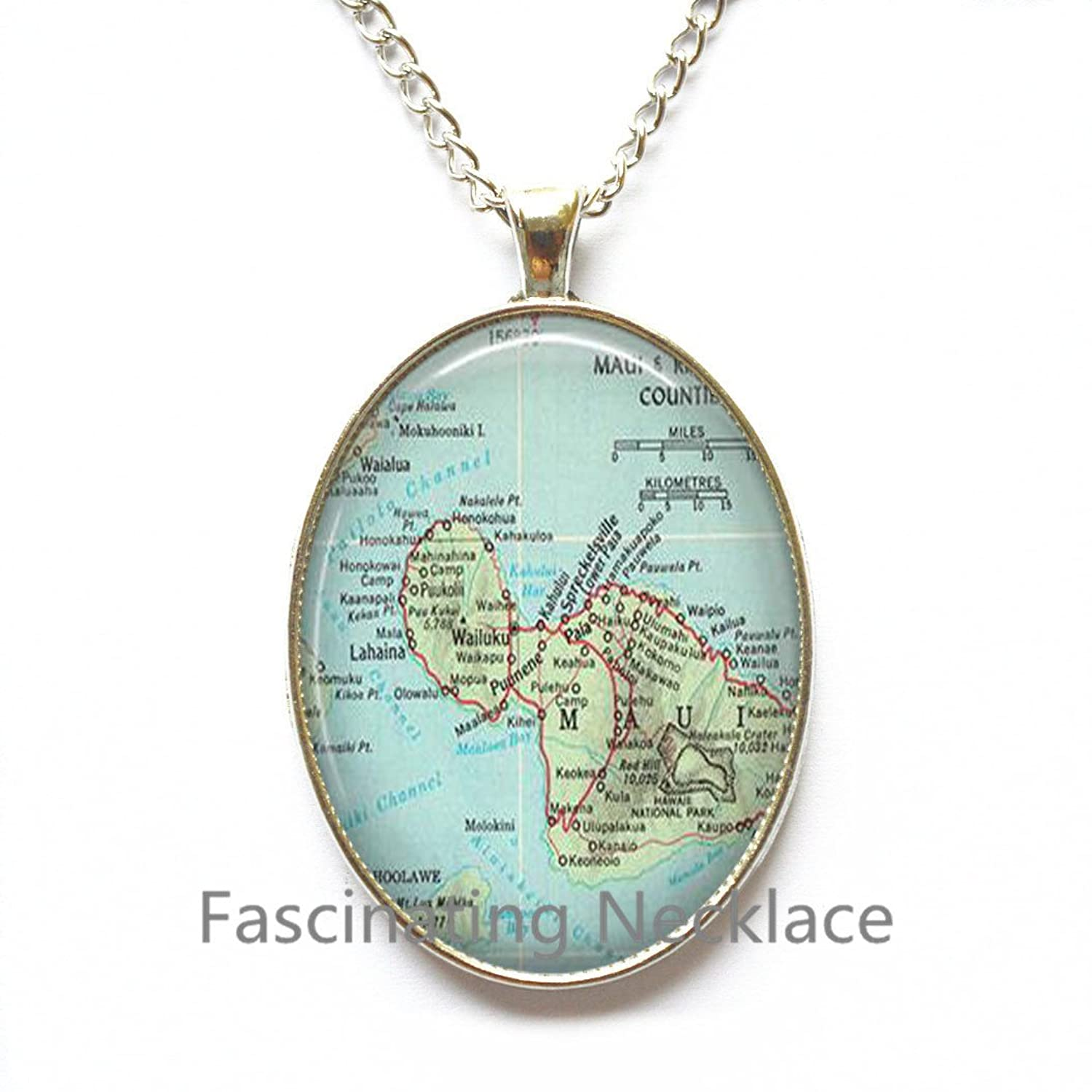 Amazon.com: Charming Necklace, Maui charming map Necklace ... on map party decor, map blouse, map linens, map engraving, map gift wrapping, map of nashville necklace, map drapes, map end tables, map throw blanket, map items, map pouf, map sweatshirt, map vest, map party favors, map pendant necklaces, map name tags, map art, map wall artwork, map necklace diy, map gift tags,