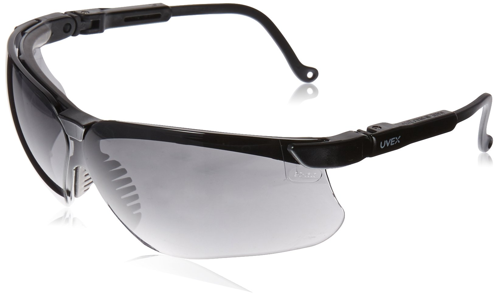 Uvex S3212X Genesis Safety Eyewear, Black Frame, Dark Gray UV Extreme Anti-Fog Lens