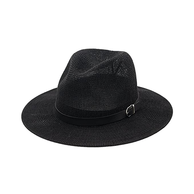 7ecbd7de29dc4 Image Unavailable. Image not available for. Color  Zhuhaitf Women Fedora  Straw Panama Hat Vintage ...