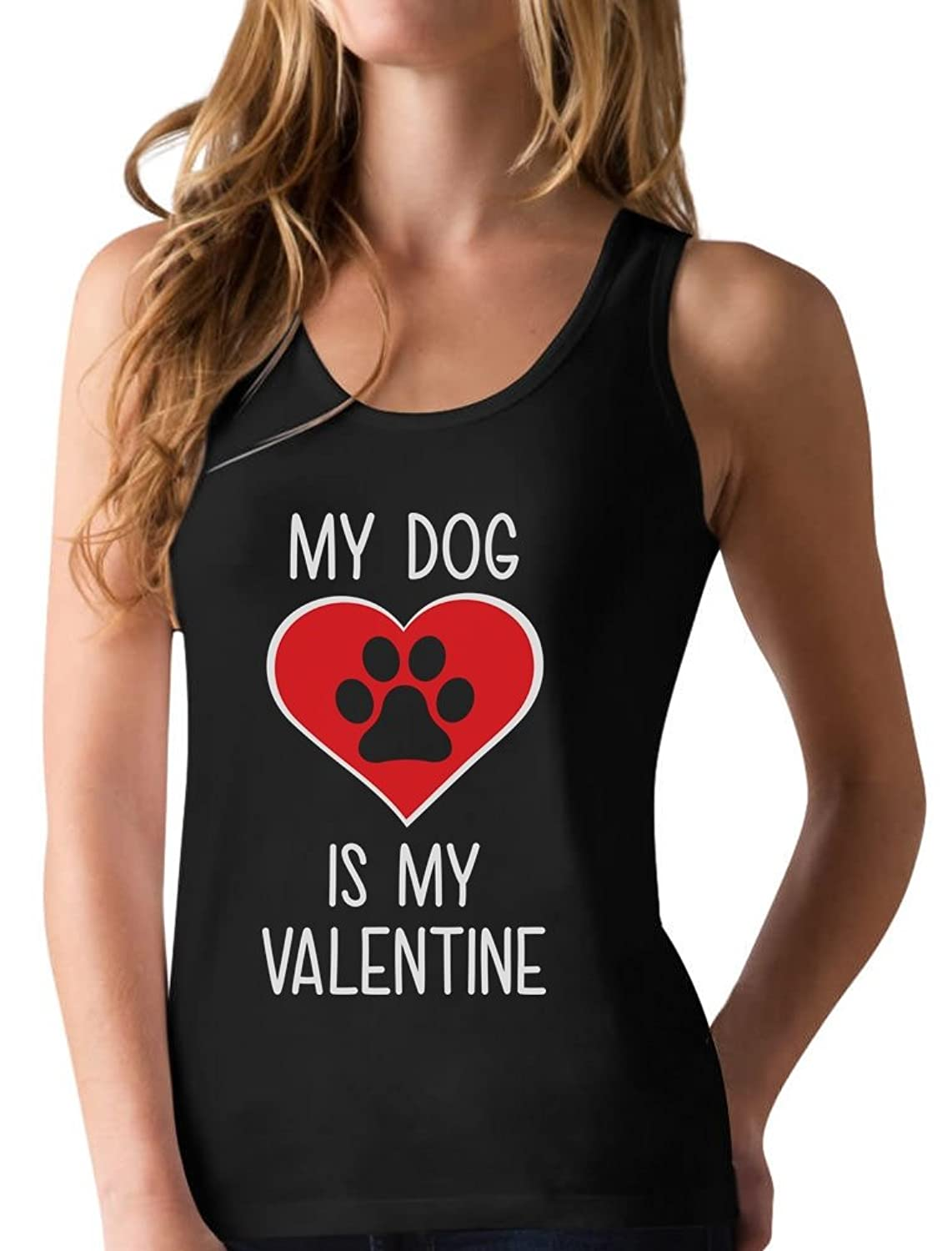 My Dog Is My Valentine - Valentine's Day Gift for Dog Lover Racerback Tank Top