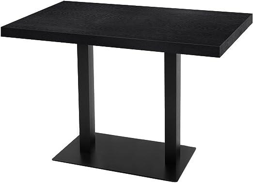 GGM Muebles Bistro Mesa | 120 x 70 cm | Negro | Madera | Bistro ...