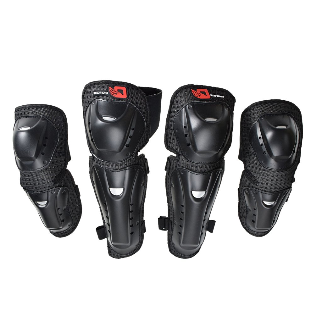 Baoblaze 4pcs Antislip Protective Elbow Knee Pads Guard for Skating Mountain Biking