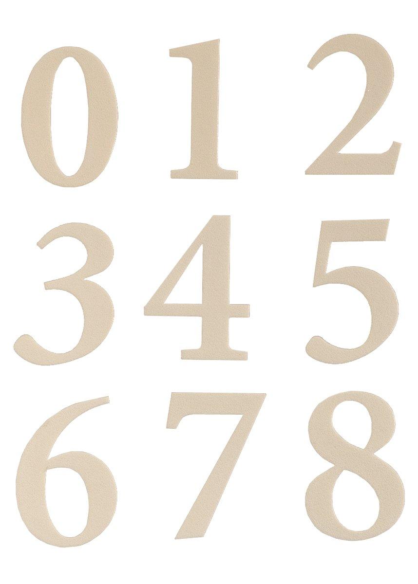 Self Adhesive Vinyl Numbers 2'' Inch - Reflective