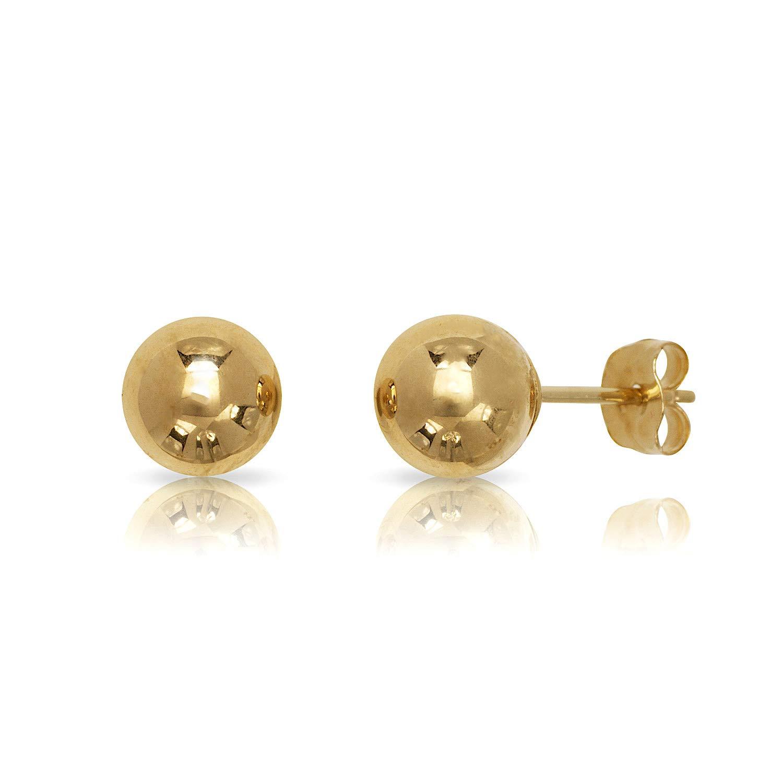 14 Karat Yellow Gold Ball Earrings (7 mm)