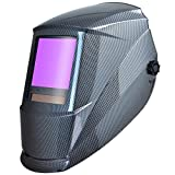 Antra Welding Helmet Auto Darkening AH7-860-001X Huge Viewing Size 3.86X3.5' Wide Shade Range 4/5-9/9-13 Great for TIG MIG/MAG MMA Plasma, Grinding, Solar-Lithium Dual Power, 6+1 Extra Lens Covers
