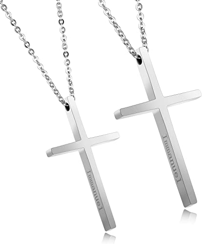 Amazon Com Opk Jewelry Mens Simple Cross Necklace Stainless Steel